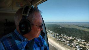 Rep. Iler viewing Hurricane Matthew Damages on Brunswick Beaches